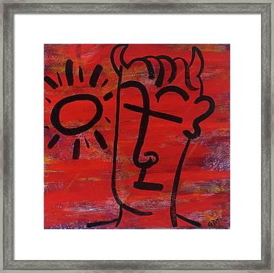 The Sinner Framed Print by Geoffrey Doig-Marx