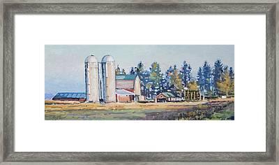 The Sipple Farm Framed Print by Larry Seiler