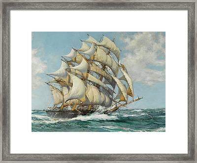 The Sir Lancelot - Detail Framed Print by Montague Dawson