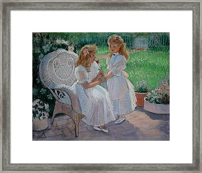 The Sister's Garden Framed Print by Sue Halstenberg
