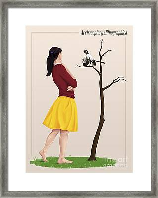 The Size Of An Archaeopteryx Perched Framed Print