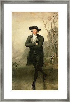 The Skater Portriat Of William Grant Framed Print by Gilbert Stuart