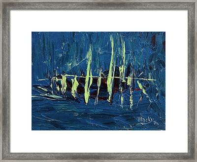 The Skeleton Ship Of El Draque Framed Print