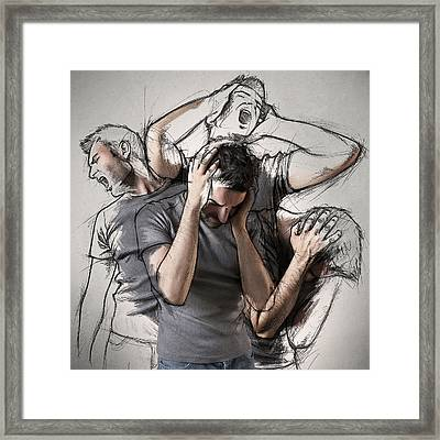 The Sketches Inside Me Framed Print