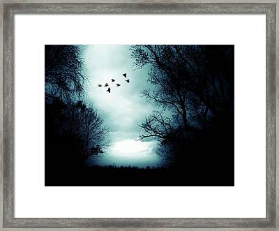 The Skies Hold Many Secrets Known Only To A Few Framed Print