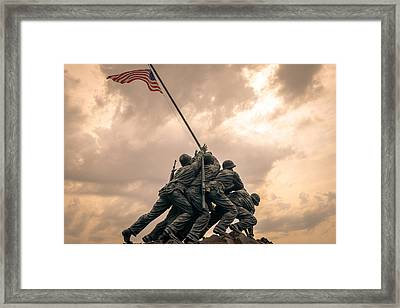 The Skies Over Iwo Jima Framed Print