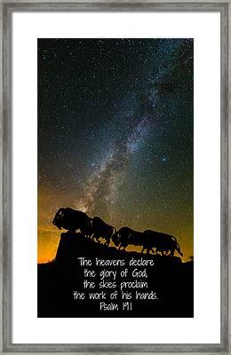 The Skies Proclaim Framed Print by Stephen Stookey