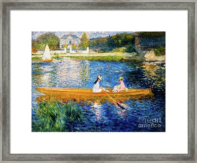 Renoir Boating On The Seine Framed Print