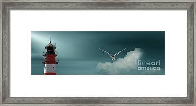 The Sky At The Lighthouse 2 Framed Print
