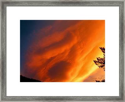 The Sky Is Burning Framed Print