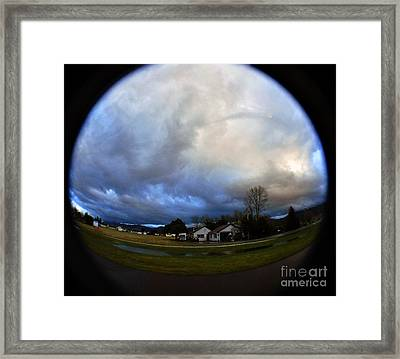 The Sky Is Falling Framed Print by Clayton Bruster