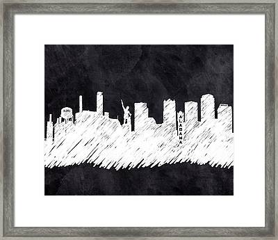 The Skyline - Birmingham - Alabama Framed Print