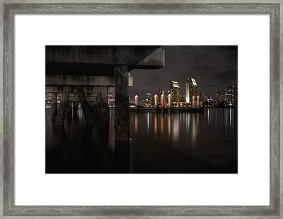The Skyline Of San Diego Framed Print by Sean Foster