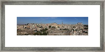 Framed Print featuring the photograph The Skyline Of Toledo Spain by Farol Tomson