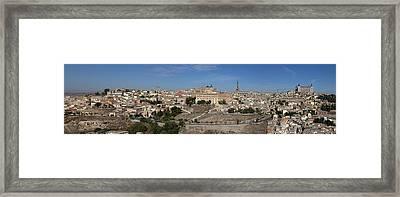 The Skyline Of Toledo Spain Framed Print by Farol Tomson