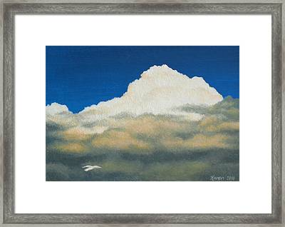 The Sky's The Limit Framed Print by Karen Coombes
