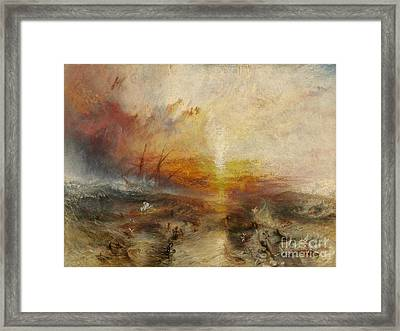 The Slave Ship, Framed Print by MotionAge Designs