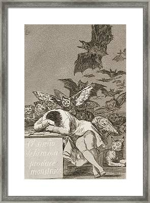 The Sleep Of Reason Produces Monsters Framed Print by Francisco Goya