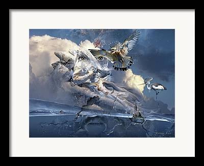 Exaltation Digital Art Framed Prints