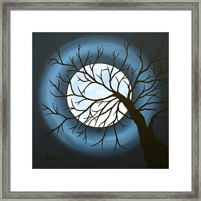 Man In The Moon Framed Print featuring the painting The Sleeping by Angela Hansen