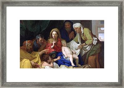 The Sleeping Christ Framed Print by Charles Le Brun