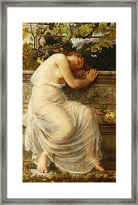 The Sleeping Girl Framed Print by Edith Ridley Corbet