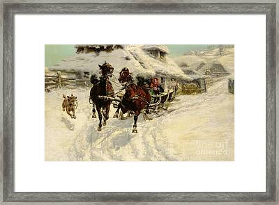 The Sleigh Ride Framed Print by JFJ Vesin