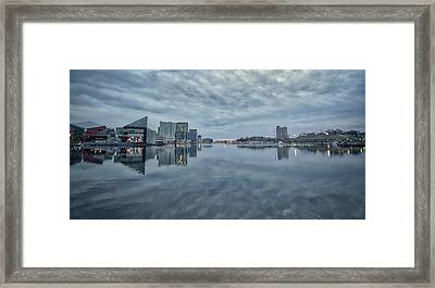 Framed Print featuring the photograph The Sliver Of Sunrise by Mark Dodd