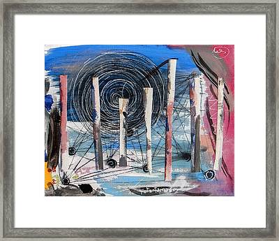 The Slough Of South Palm Canyon Drive Framed Print