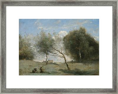 The Small Farm Meadows Framed Print