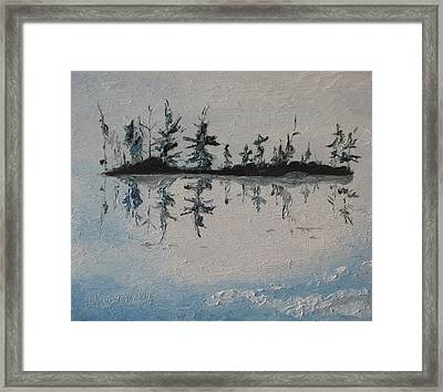 The Small Island Framed Print by Francois Fournier