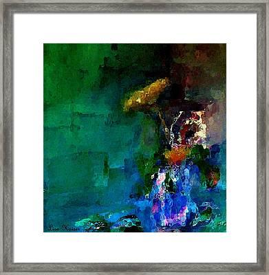 The Small Yarrow Bouquet Framed Print by Lisa Kaiser