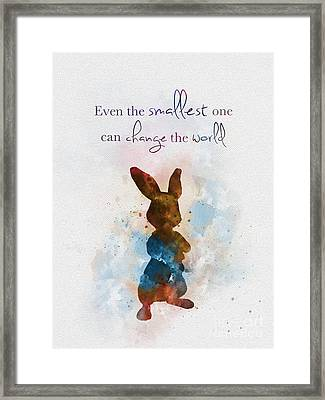 The Smallest One Framed Print by Rebecca Jenkins