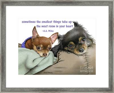The Smallest Things Framed Print