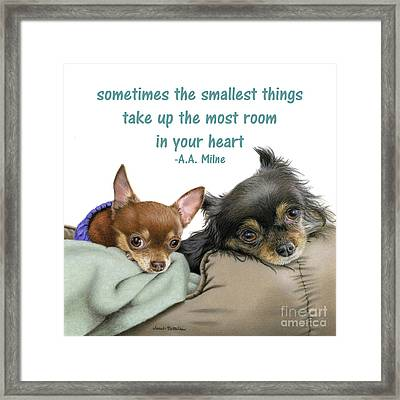 The Smallest Things Square Format Framed Print