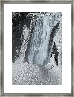 The Smallness Of Man Against Nature Framed Print