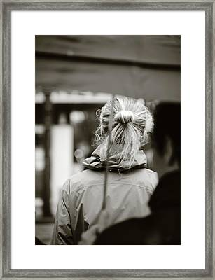 Framed Print featuring the photograph The Smell Of Your Hair by Empty Wall