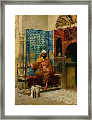 The Smoker Framed Print by Ludwig Deutsch
