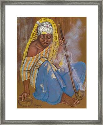The Smoker Framed Print by Pamela Mccabe