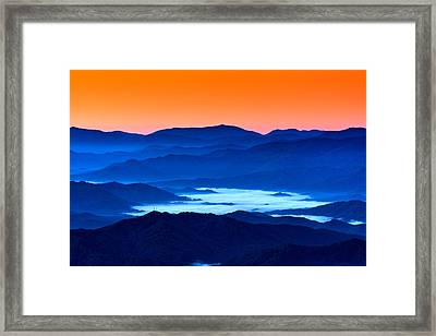 The Smokies Before Dawn Framed Print