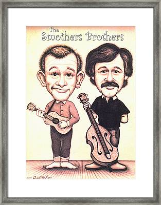 The Smothers Brothers Framed Print by Cristophers Dream Artistry