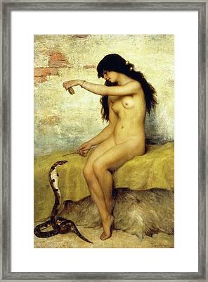 The Snake Charmer Framed Print by Paul Desire Trouillebert