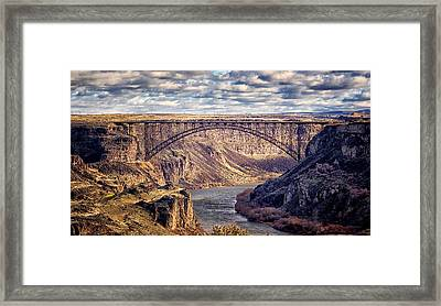 The Snake River At Twin Falls Idaho Framed Print