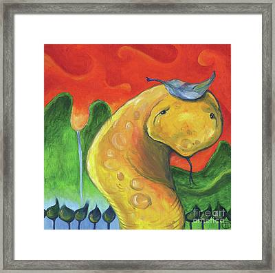 The Snake Framed Print by Troy Brown