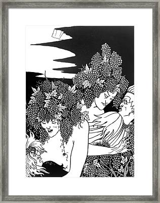 The Snare Of Vintage Framed Print by Aubrey Beardsley