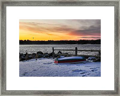 The Snow Boat Framed Print