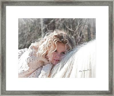 The Snow Bunny Framed Print by Terry Kirkland Cook