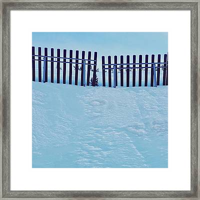 The Snow Fence Framed Print by Contemporary Art