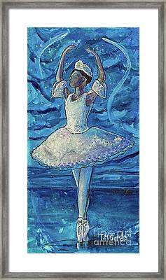 Framed Print featuring the painting The Snow Queen by TM Gand