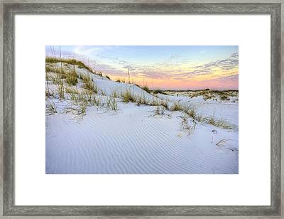 The Snow White Dunes Of The Panhandle Framed Print by JC Findley